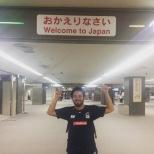 Trabalhando no Japão junto da Seleção Brasileira de Judô